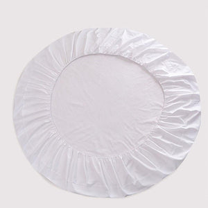 White Round Fitted Sheet Only