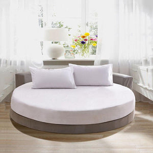 White Round Fitted and Pillowcase