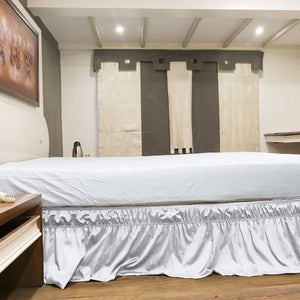 White Wrap Around Bed Skirt