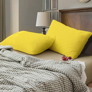 yellow pillowcases