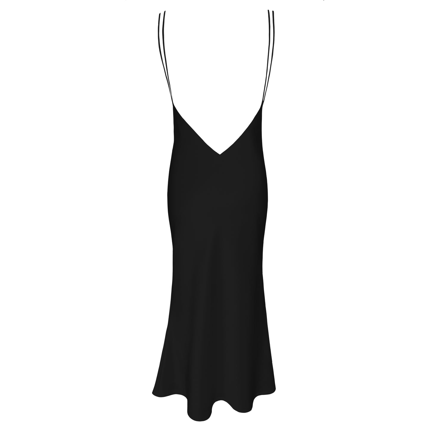 The Sadie V Neck Slip Dress With Double Straps