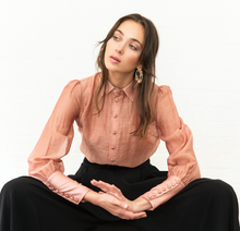The Elara Sheer Button Shirt