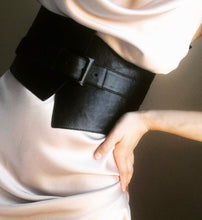 The Asymmetrical Leather Corset Belt