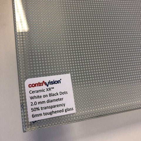 Contra Vision printed glass