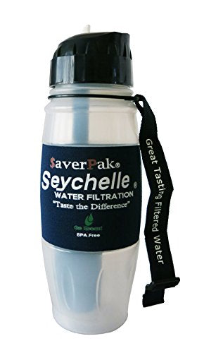 $averPak Single - Includes 1 $averPak Seychelle 28oz Flip Top Bottle with the EXTREME Water Filter