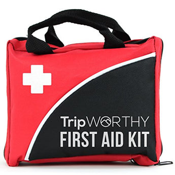 Compact First Aid Kit for Medical Emergency - for Home, Car, Camping, Hiking, Sport, Work, Office, Boat, Survival, and Traveling - Small and Lightweight First Aid Bag