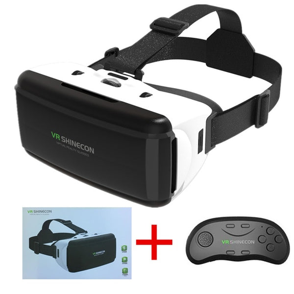 VR SHINECON PRO VERSION 3D GLASSES- FREE GIFT Bluetooth Wireless Remote Control