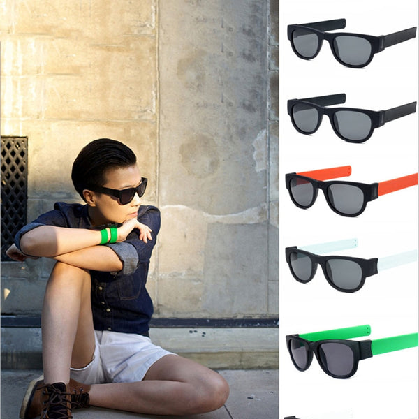 Wrist Slap Foldable Sunglasses