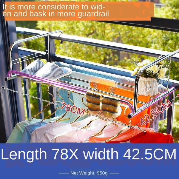 Multi-Use Folding Window Drying Rack Stainless Steel
