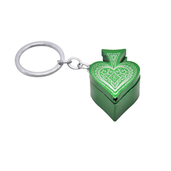 Heart Shape Key Ring Pipe