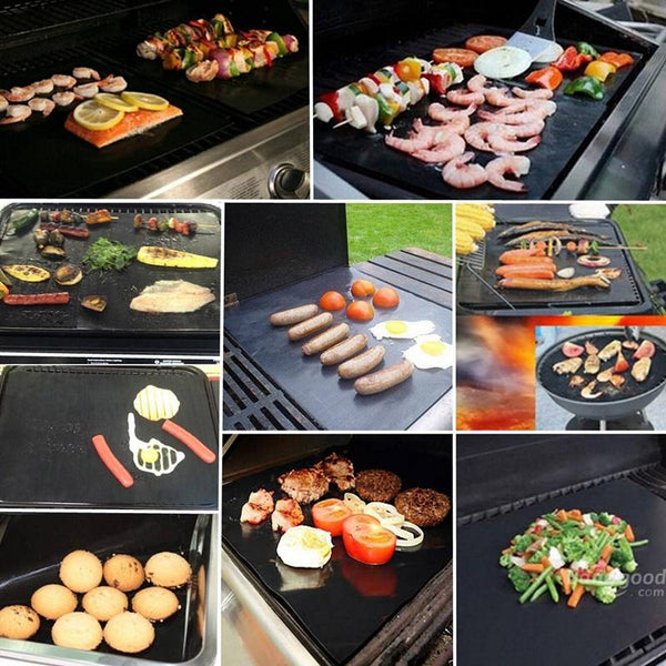 2pcs non-stick Reusable BBQ Grill Mats