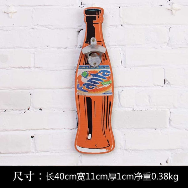 Vintage Style Beer Shaped Wall Bottle Opener