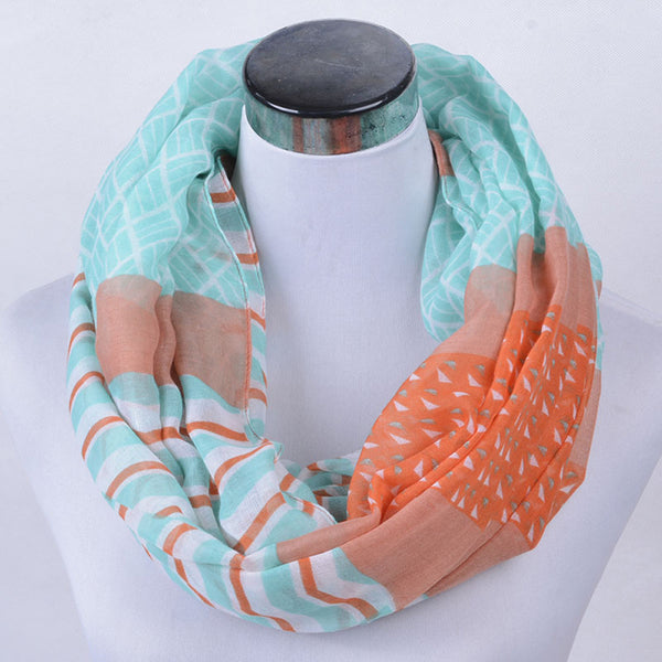 Women Lady Penguin Print Shawl Voile