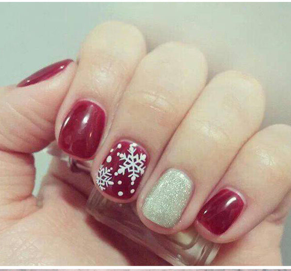 Christmas snowflake Stamp For Nail Art