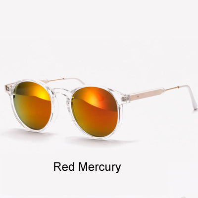 Ralferty 2017 Women Sunglasses Transparent Frame Anti UV Sun Glasses Flash Mirror Sunglass Female Shades Sunglases oculos 1521