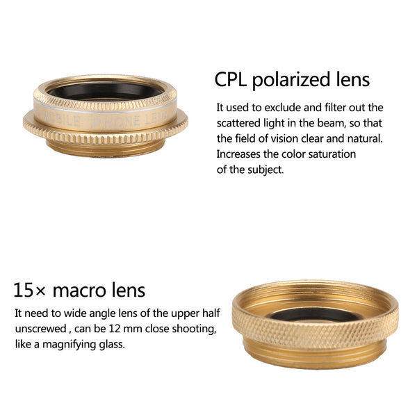 Universal Magnetic 3-Piece Smartphone-Lens Kit