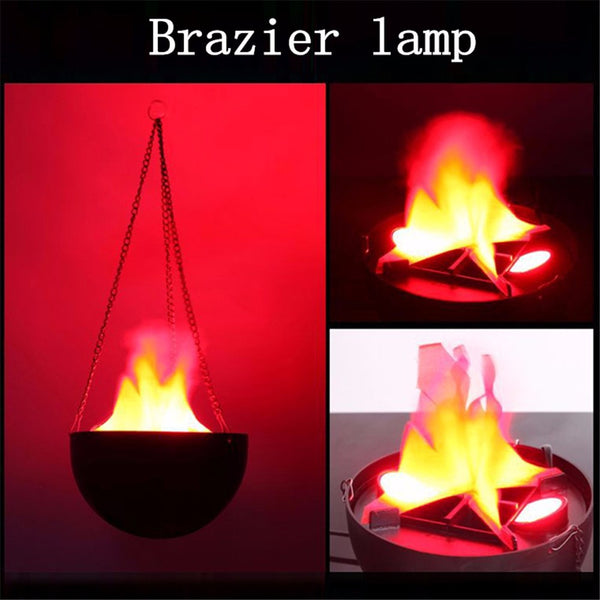 LED Flame Fire Light Effect Simulated Nature Brazier Lamp