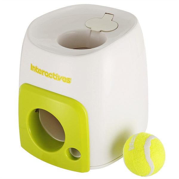 Pet Interactive Fetch Ball Training Machine (Ball Included)
