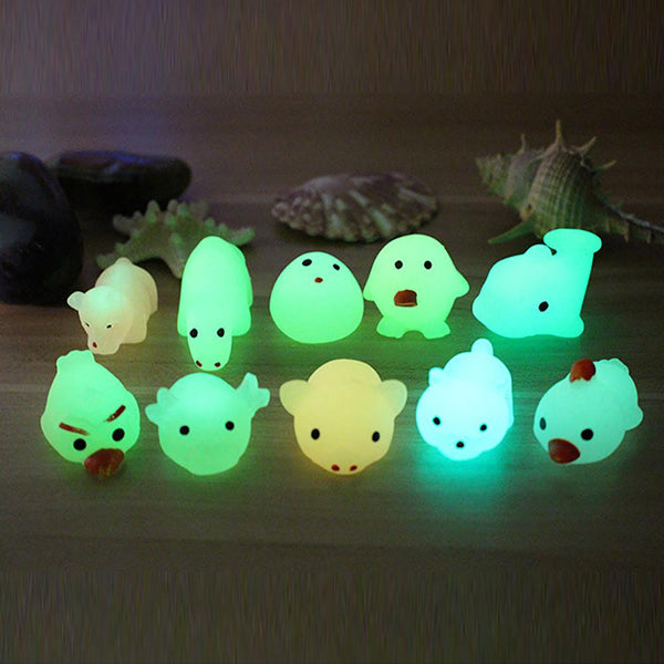 Cute Luminous Mochi Squishy Cats