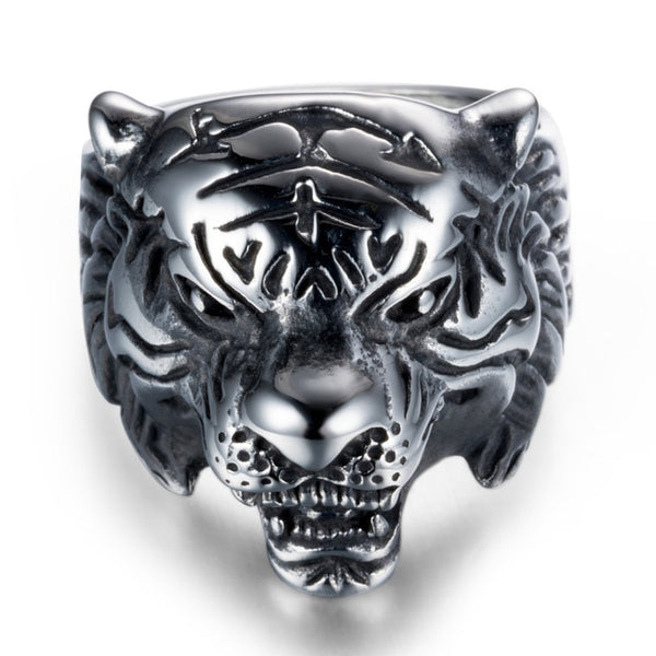 Stainless Steel Tiger Head Ring