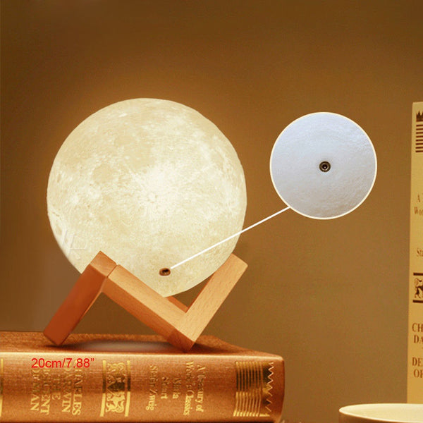 3D LED Moon Night Desk Lamp