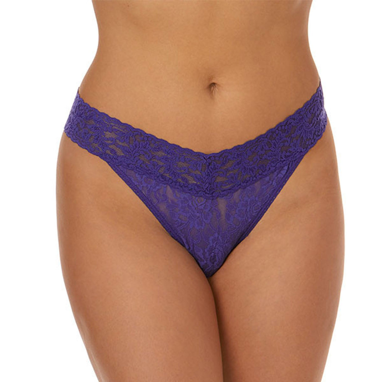 Original Rise Thong Rolled-Signature Lace