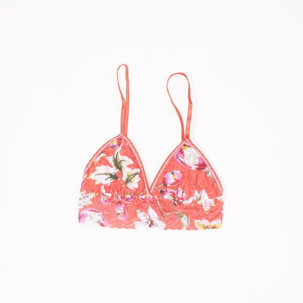 Padded Bralette-Coral Floral