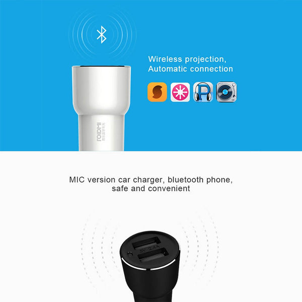 Xiaomi Car Charger & Bluetooth Music Player - Gadget My Car