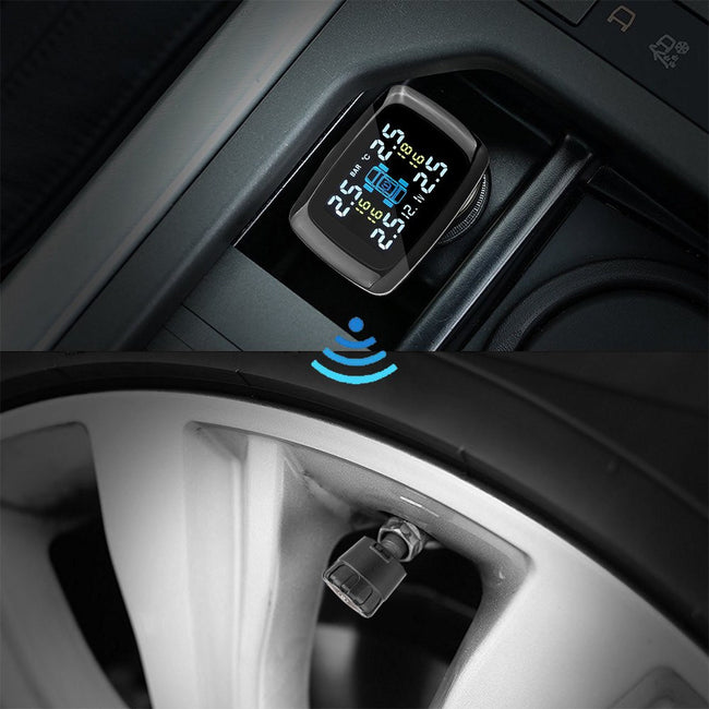Tirely - Wireless Car Tire Pressure Alarm Monitor System - Gadget My Car