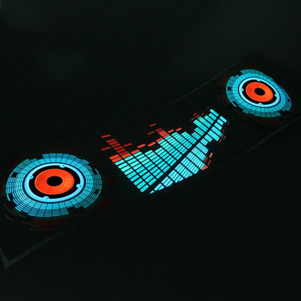 LED Light Equalizer Sticker - Gadget My Car