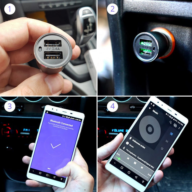 Xiaomi ROIDMI 2S Car Charger & Bluetooth Music Player - Gadget My Car