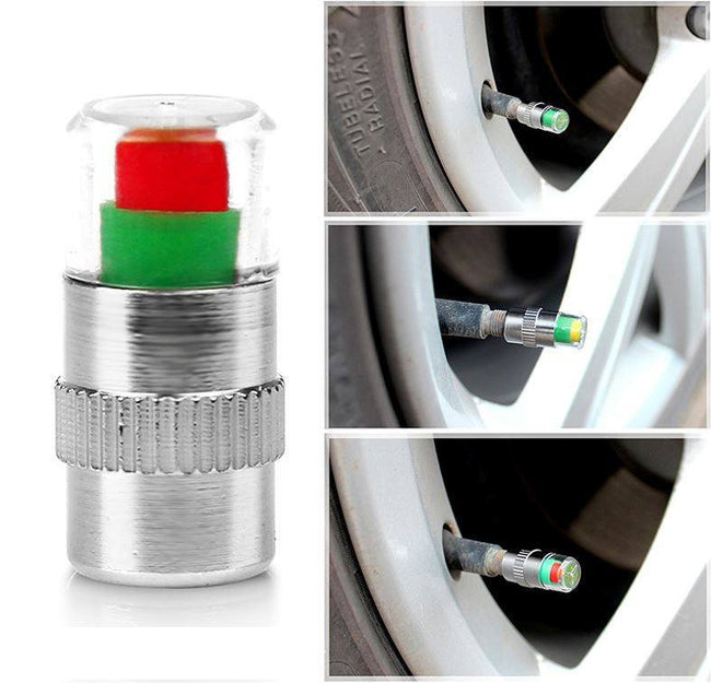 Car Tyre Tire Pressure Smart Valve Caps - Gadget My Car