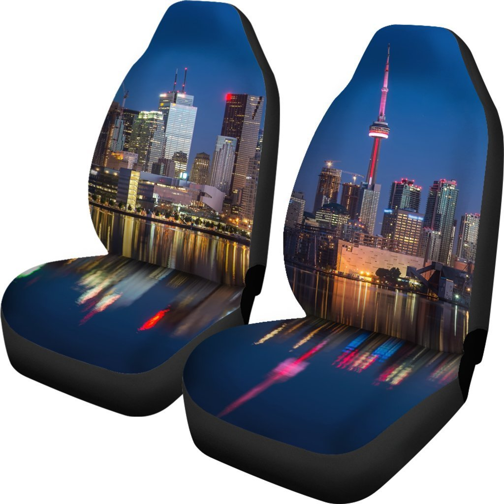City Skyline Car Seat Cover
