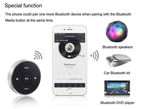 Steering Wheel Bluetooth Remote Control - Gadget My Car