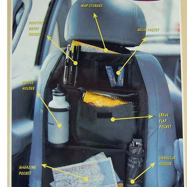 Car Back Seat Multi-Pocket Organizer - Gadget My Car