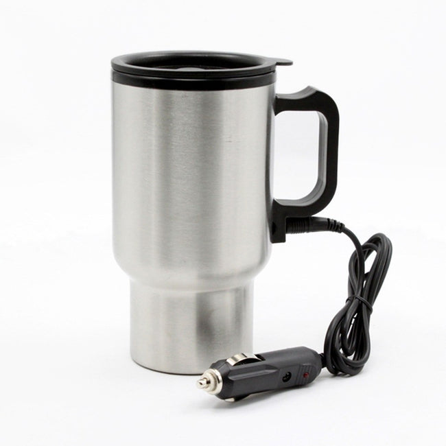 12V  Car Stainless Steel Heating Cup - Gadget My Car