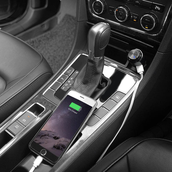 3-in-1 Car Charger, Bluetooth Earbud & Air Purifier
