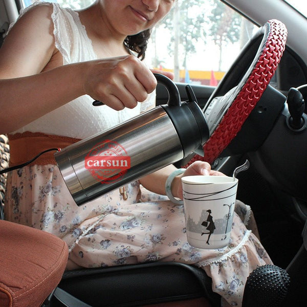 Stainless Steel Heated Travel Mug - Gadget My Car