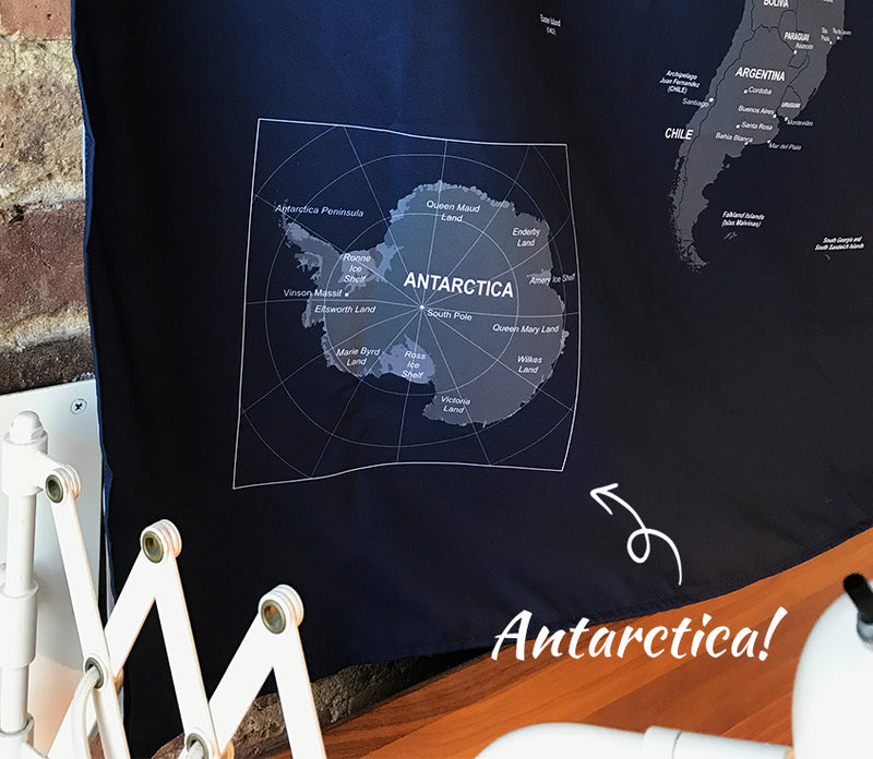 UMade- Umap, your personalized world map, large size travel map with Antarctica