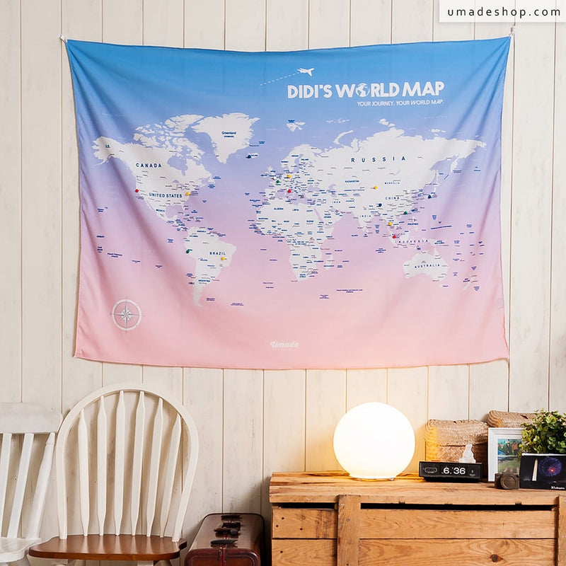 U Map。World Map - Rose Quartz & Serenity