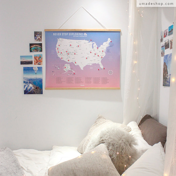 UMap 🇺🇸 Your U.S. National Parks Map - Rose Quartz & Serenity