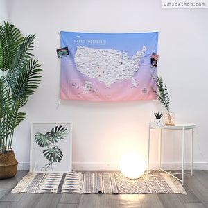 UMade, UMap, your personalized USA map, United States Map, Wall Art, USA travel map, Wall Art, USA Map for Kids, room decor map, rose quartz, pink, purple, custom travel map, custom map, gift for her, gift idea, room decor, dorm decor, tapestry map, scratch off map, pushpin map, 50 states, USA national park, America map, road trip map, room decoration idea, travel gift, US gift ideas, room makeover, decor inspiration