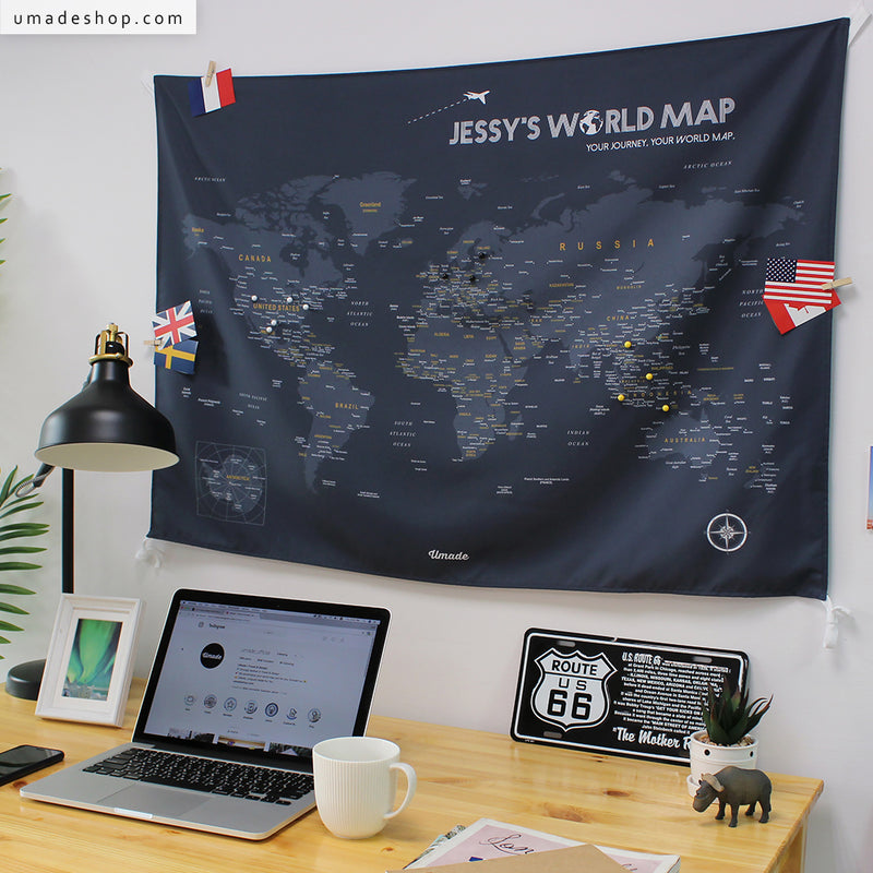 Your personalized world map travel map space graytapestry umade new coloru mapworld map space gray gumiabroncs Gallery