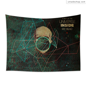 ★Wall Tapestry★ A Part of The Universe Inside My Head (Horizontal) - Frank Moth