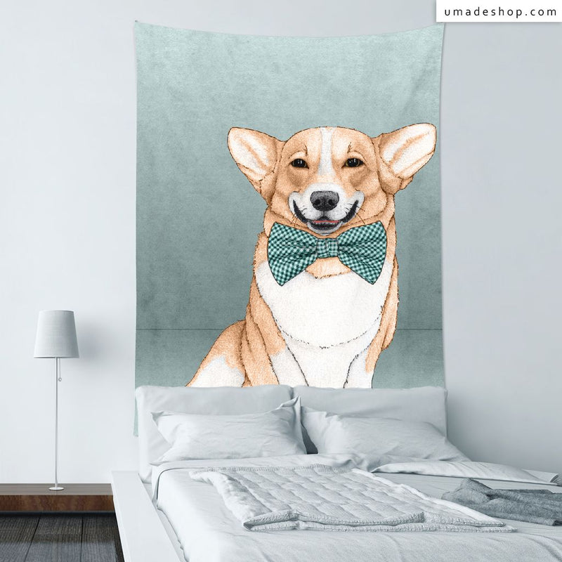 ★Wall Tapestry★ Corgi Dog - Barruf