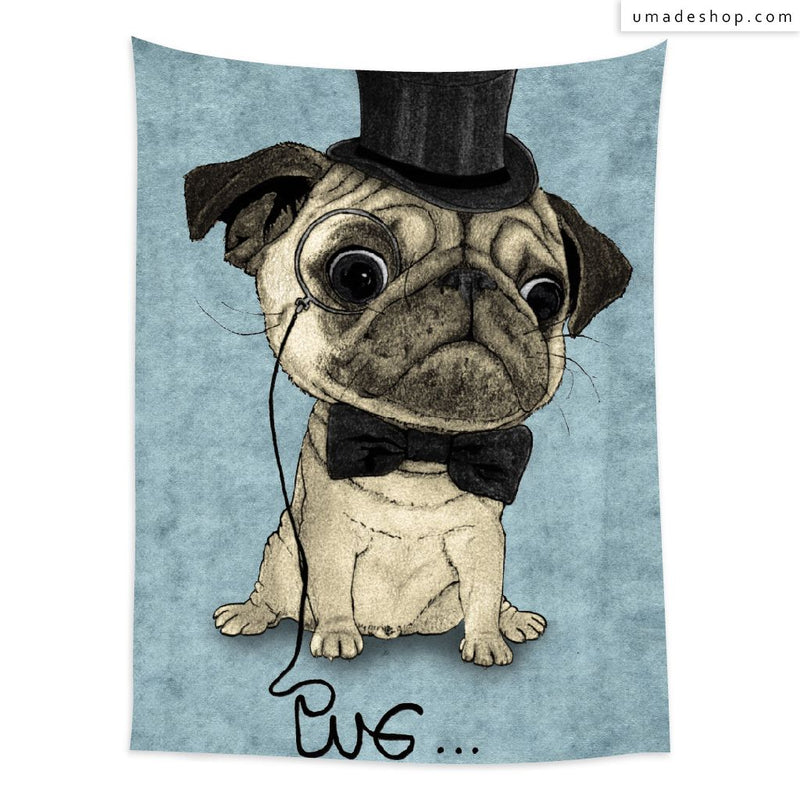 ★Wall Tapestry★  Pug; Gentle Pug - Barruf