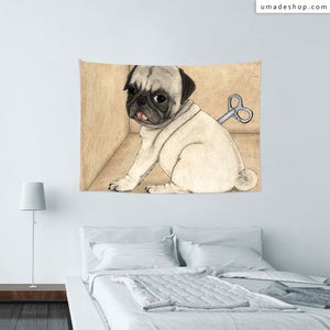 ★Wall Tapestry★ Toy Dog; Pug - Barruf