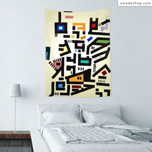 ★Wall Tapestry★ Colorful City Disorganitzation - Barruf