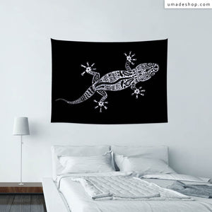 ★Wall Tapestry★ Ornate Lizard B&W - Barruf