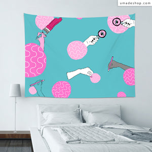 ★Wall Tapestry★ Painting is my life - Pidang Wu